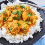 Como Preparar Pollo al curry con Arroz y leche de coco Receta facil y sencilla