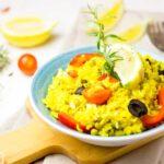 Arroz con verduras o paellas de verduras