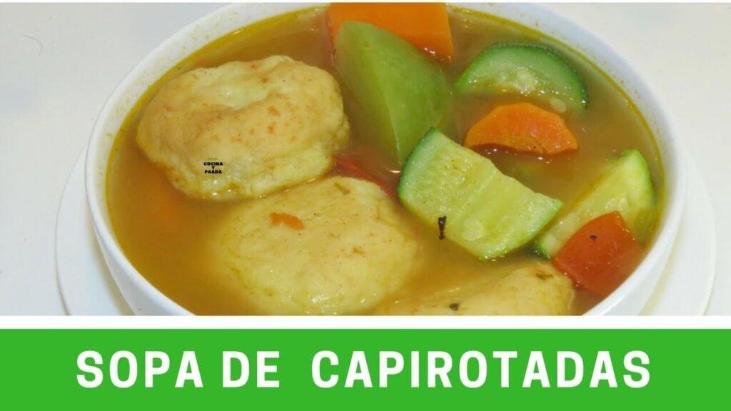 SOPA DE CAPIROTADAS